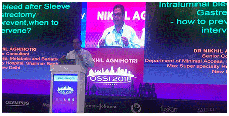 Dr.Nikhil Agnihotri speech sleeve gastrectomy ossi 2018 newdelhi
